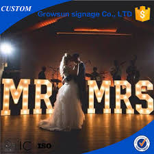 custom wedding letters love marquee signs metal vintage light bulb