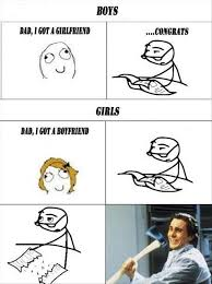 Boy Or Girl Meme - boys vs girls funny rage comic too true though dads should