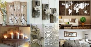 rustic wall art ideas to spice up the atmosphere