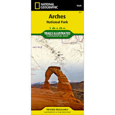 National Parks Utah Map by 211 Arches National Park Trail Map National Geographic Store