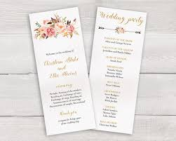 christian wedding program templates floral wedding program template whimsical wedding ceremony