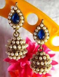 fancy jhumka earrings jhumka earrings online shopping socialbliss