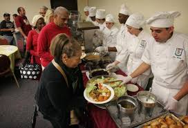 riverside cooking students serve up thanksgiving for homeless