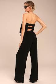 strapless jumpsuit black black jumpsuit strapless jumpsuit backless jumpsuit 64 00