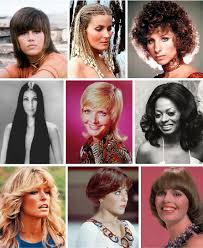 jane fonda 1970 s hairstyle the long 1970s women s hairstyles of the 1970s from upper left to
