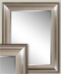 Bathroom Mirrors Brushed Nickel Traditional Brushed Nickel Chateau Bathroom Mirror Bathroom