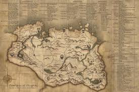 Go To My Maps A Map Of Skyrim That I Made For My Husband For Christmas It U0027s