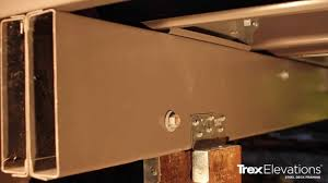 how to install trex elevations steel deck framing 9 double box