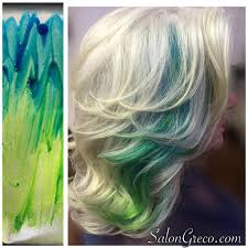 short hairstyles with peekaboo purple layer layered blonde with blue green ombre peekaboo highlights hair