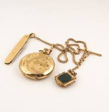 1908 gold filled elgin pocket watch with simmons 10k gold pocket