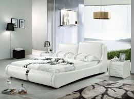 White Leather Bed Frame King White Leather Frame With Crystals Single Storage