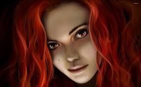 Red Hair Girl Meme - red haired girl wallpaper fantasy wallpapers 16056