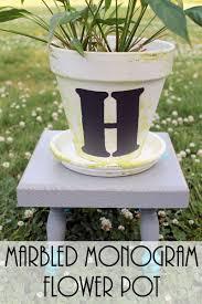 Monogram Planter Marbled Monogram Flower Pot Do More For Less