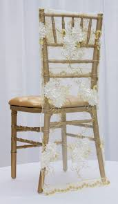 Chair Back Covers Vintage Veil Embroidery Chiavari Chair Full Back Cover Ivory