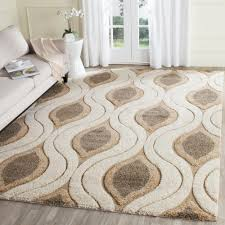 Orange And Brown Area Rugs Safavieh Florida Shag Cream Smoke 9 Ft 6 In X 13 Ft Area Rug