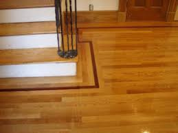 hardwood floor border and feature