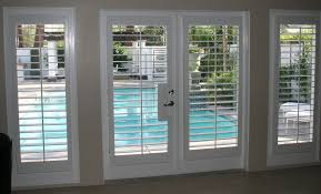 Interior White French Doors Contemporary Plantation Shutters For French Doors Wood