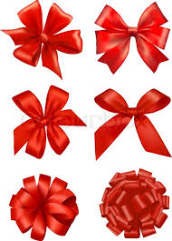 gift bows big set of gift bows with ribbons vector stock vector