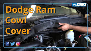 Dodge Ram Cummins Grill Cover - how to remove and reinstall wiper cowl cover 08 dodge ram 1500 buy