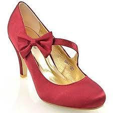 Wedding Shoes Amazon Womens Bridal Stiletto White Ivory Satin Ladies Heels Wedding