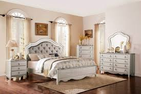Upholstered Bedroom Furniture by Homelegance Toulouse Upholstered Bedroom Set Champagne B1901 1