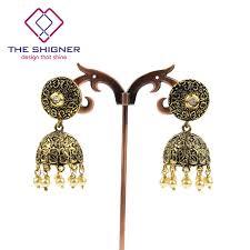 fancy jhumka earrings the shigner indian jewelry ethnic oxidized fancy party