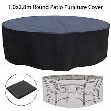 Large Round Patio Furniture Cover - patio table and chair covers round classic accessories veranda