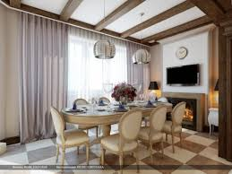 Dining Room With Fireplace by Home Design Cream Brown Chequered Floor Dining Room And Long Set