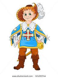 little boy carnival costume musketeers cartoon stock vector