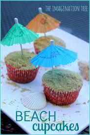 Cake Decorations Beach Theme - best 25 summer themed cupcakes ideas on pinterest beach