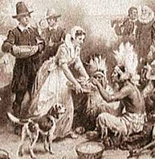Thanksgiving Pilgrims And Indians First Thanksgiving How It All Began