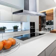 island kitchen hoods graded 90cm flat island ss