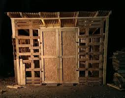 How To Build A Shed Out Of Wooden Pallets by Pallet Shed 9 Steps With Pictures
