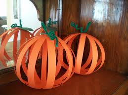 Halloween Pre K Crafts 3d Pumpkins Need Orangle Construction Paper Green Construction