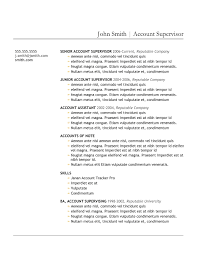 Resume Example Or Templates by 9 Best Free Resume Templates Download For Freshers Best