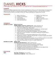 Accounts Receivable Resume Template Accounts Receivable Billing Resume