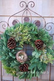 Christmas Decorations Outdoor by 617 Best Christmas Decorating With Evergreens Images On Pinterest