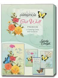 butterflies box of 12 clough assorted christian get well