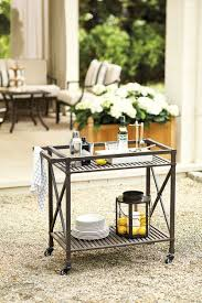 update your bar cart for outdoor entertaining how to decorate outdoor bar cart