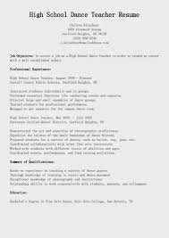 Sample Resume For On Campus Job Remarkable Dance Resume Template Emailfaxreview Com Audition