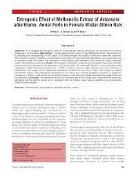 estrogenic effect of methanolic extract of avicennia alba blume