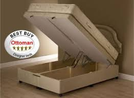 4ft6 4 u00276 ft luxury chenille ottoman divan storage bed double