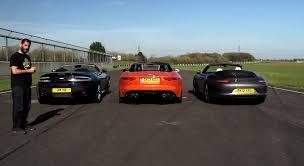jaguar f type vs porsche 911 porsche 911 s cabriolet vs jaguar f type v8s vs aston v8 vantage