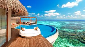 luxury water bungalows maldives hd desktop wallpaper widescreen