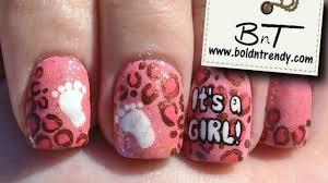 it u0027s a pink leopard nail art desing e031 youtube