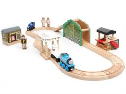 thomas the train wooden track table kids woot thomas wooden train set for 39 99 shipped