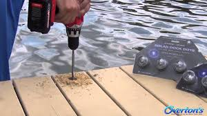 Marine Solar Lights - lake lite solar dock dot lights youtube