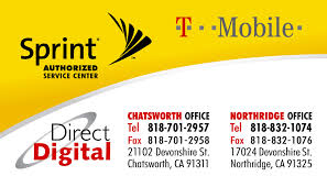 sprint authorized service center business card design and printing
