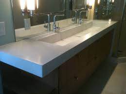 why small trough bathroom sink with two faucets is a great choise
