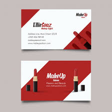 business card cosmetics cosmetic business card template free